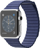 Apple Watch 42mm Stainless Steel with Blue Leather Loop (MJ452)
