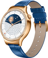 Huawei Watch Rose Gold Stainless Steel with Blue Italian Leather Strap