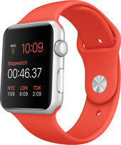 Apple Watch Sport 42mm Silver with Orange Sport Band (MLC42)