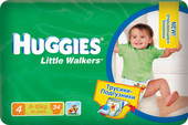 Huggies Little Walkers 4 (34 шт)