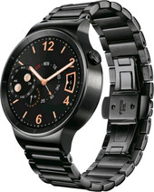 Huawei Watch Black with Black Stainless Steel Link Band