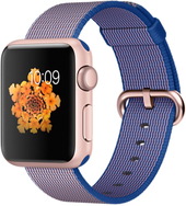 Apple Watch Sport 38mm Rose Gold with Royal Blue Woven Nylon [MMFP2]