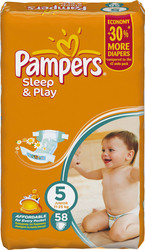 Pampers Sleep&Play 5 Junior Jumbo Pack (58 шт)