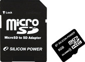 Silicon-Power microSDHC (Class 4) 8 Гб (SP008GBSTH004V10-SP)