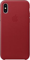 Apple Leather Case для iPhone X Red