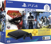 Sony PlayStation 4 Slim Horizon ZeroDawn+God of War3+Uncharted4 500GB