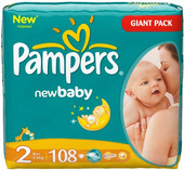 Pampers New Baby 2 Mini Giant Pack (108 шт)