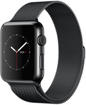 Apple Watch 42mm Space Black with Space Black Milanese Loop [MMG22]