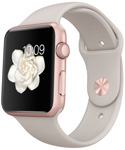 Apple Watch Sport 42mm Rose Gold with Stone Sport Band (MLC62)