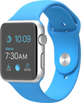 Apple Watch Sport 42mm Silver with Blue Sport Band (MJ3Q2)