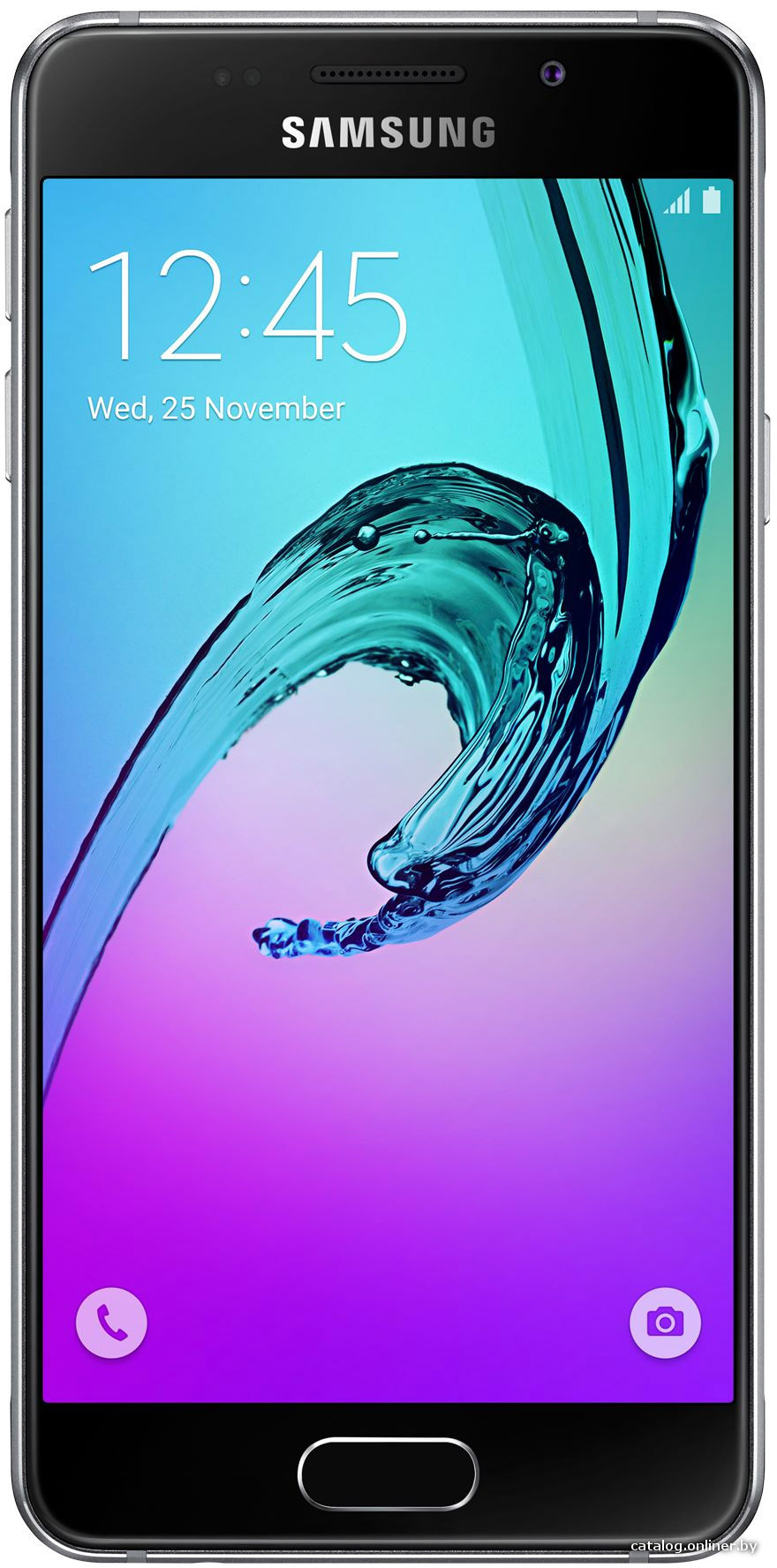 "Смартфон Samsung Galaxy A3 (2016) SM-A310F-DS Black (1.5GHz,1.5GbRAM,4.7""1280x720,4G+BT+WiFi+GPS,16Gb+microSD,13Mp,Andr)"