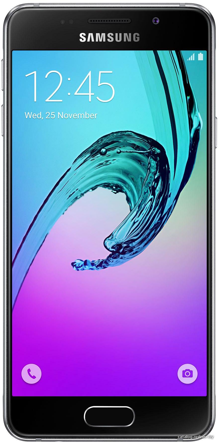 "Смартфон Samsung Galaxy A3 (2016) SM-A310F-DS Black (1.5GHz,1.5GbRAM,4.7""1280x720,4G+BT+WiFi+GPS,16Gb+microSD,13Mp,Andr)"