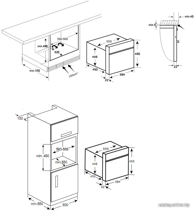 Встраиваемая микроволновая печь Цвет антрацит + фурнитура состаренная бронза Дверь с ручкой откидывается вниз 3...