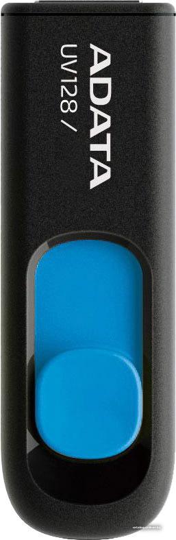 Флеш накопитель 128GB A-DATA UV128, USB 3.0, черный/синий AUV128-128G-RBE
