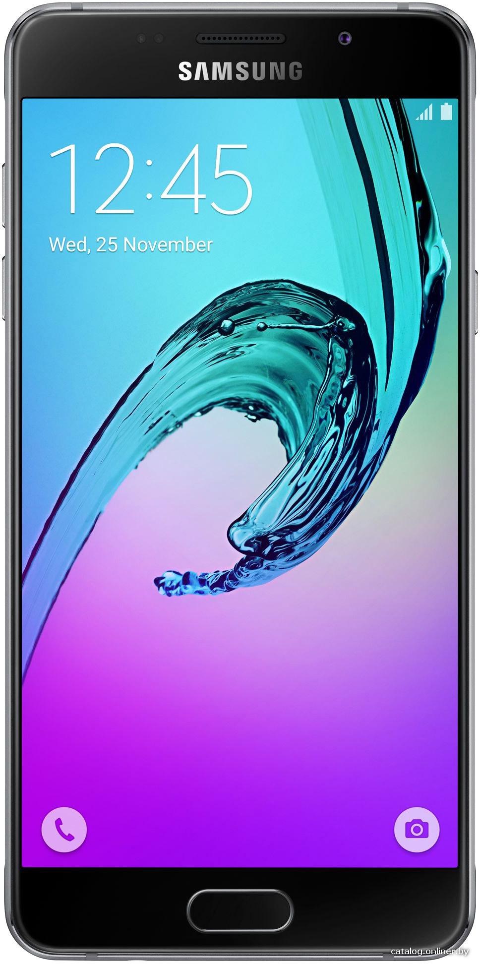 "Смартфон Samsung Galaxy A5 (2016) SM-A510F-DS Black (1.6GHz,2GbRAM,5.2""1920x1080,4G+BT+WiFi+GPS,16Gb+microSD,13Mp,Andr)"