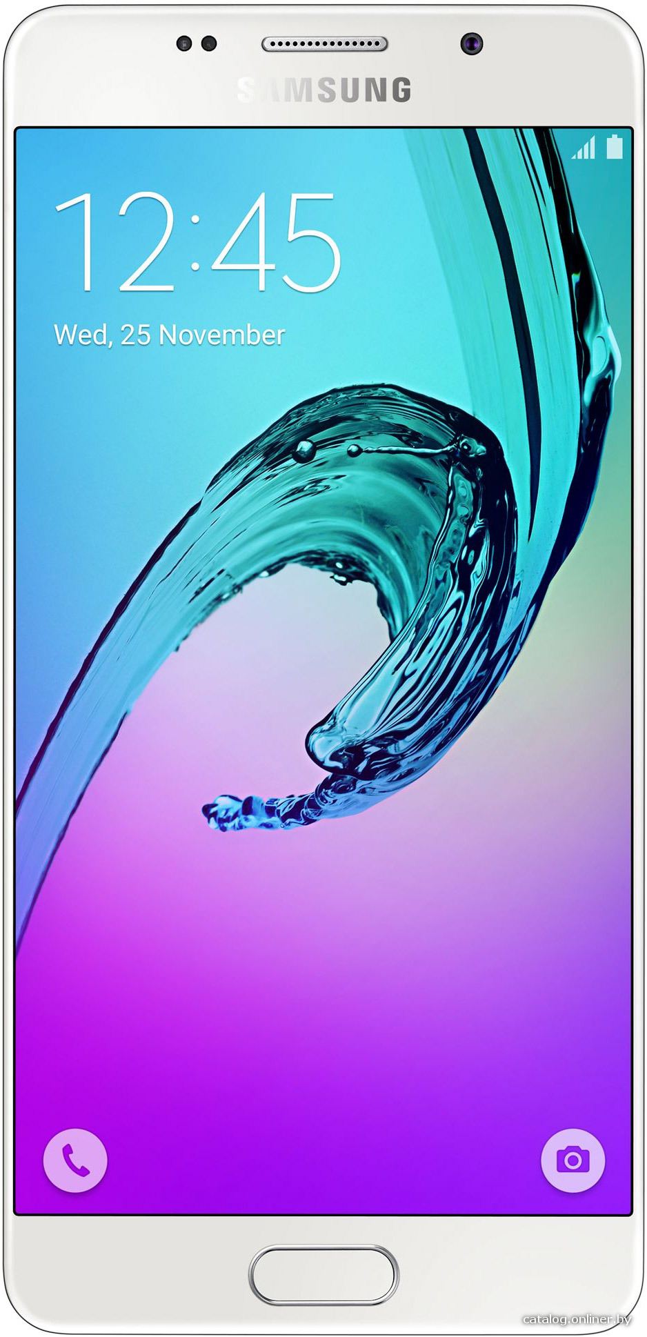 "Смартфон Samsung Galaxy A5 (2016) SM-A510F-DS White (1.6GHz,2GbRAM,5.2""1920x1080,4G+BT+WiFi+GPS,16Gb+microSD,13Mp,Andr)"