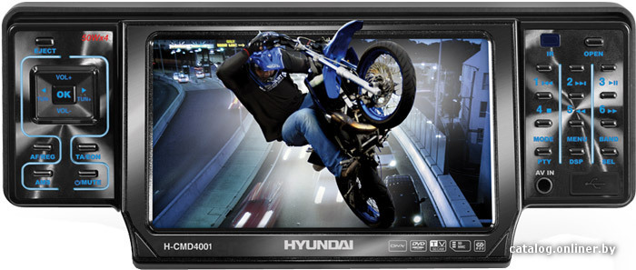Магнитола Hyundai H-CMD4001.