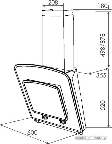 Вытяжка Zorg Technology Classic (60 Black) - схема.