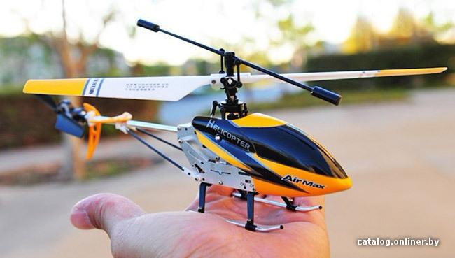 вертолет, схема управления: рулевая, электрический двигатель, дальность: 30 м, Li-pol, 300 мАч.