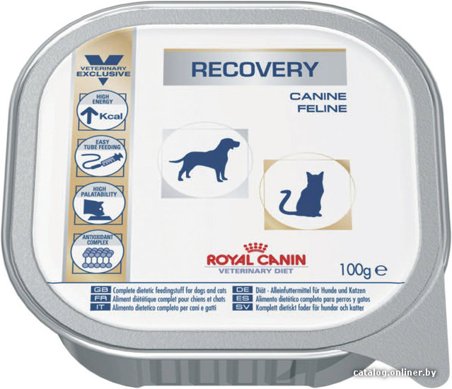 Корм для собак recovery корм royal canin