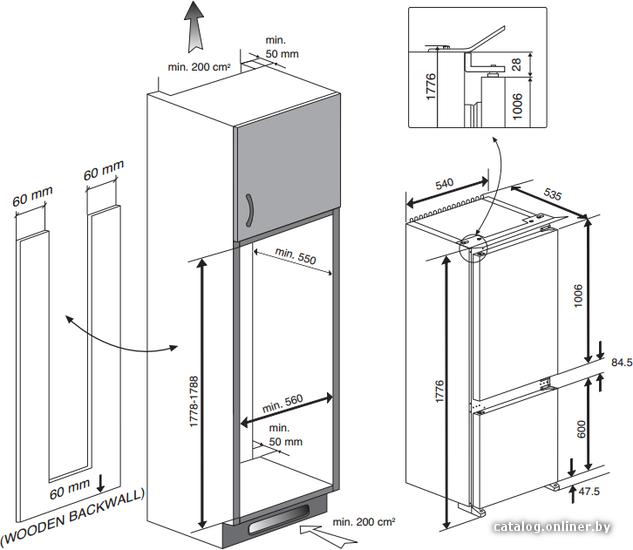 холодильник веко схема