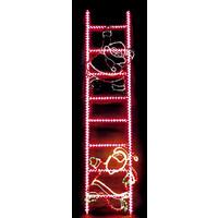 Световой мотив Дед мороз на лестнице