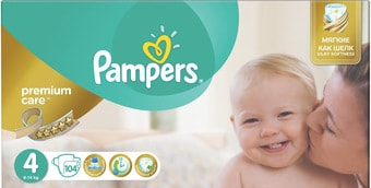 Pampers Premium Care 4 Maxi (104 шт) подгузники купить в Минске 8fa7a5a718f
