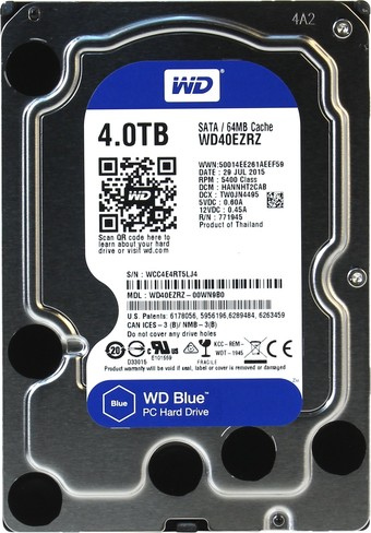 Жесткий диск WD Blue 4TB (WD40EZRZ)