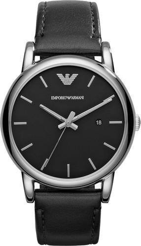 Emporio armani часы черные ящики