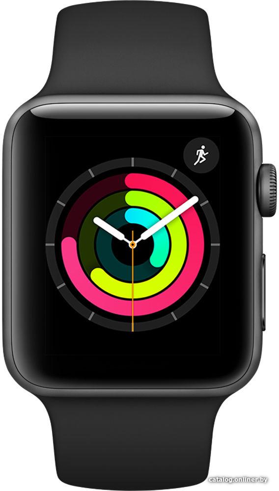 de2b24559865 Apple Watch Series 3 42 мм (алюминий серый космос черный) умные часы купить  в Минске