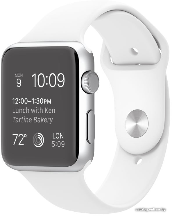f9da1c806d46 Apple Watch Sport 42mm Silver with White Sport Band (MJ3N2) умные ...