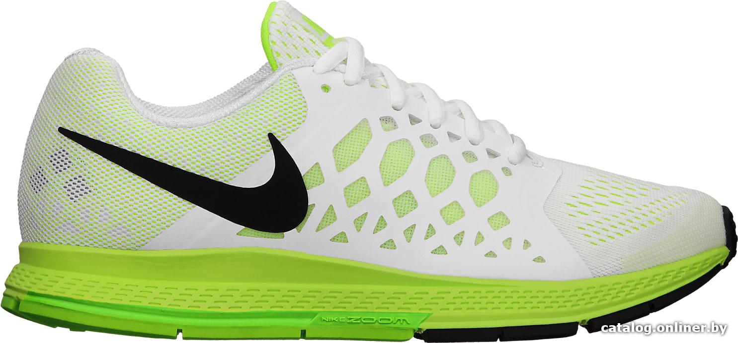 6b19f167 Nike Air Zoom Pegasus 31 белый-салатовый (654486-101) кроссовки ...