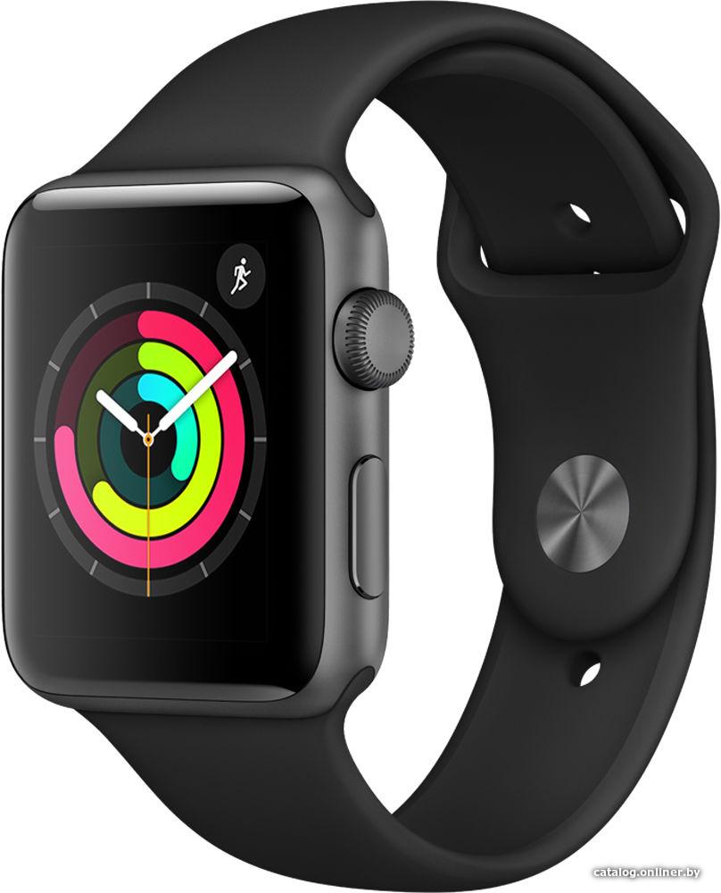 Apple Watch Series 3 42 мм (алюминий серый космос черный) efd1e2bf937