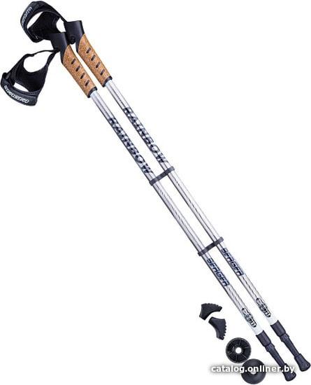 Berger Rainbow 77-135 (серый/белый) палки для скандинавской ходьбы купить в Минске