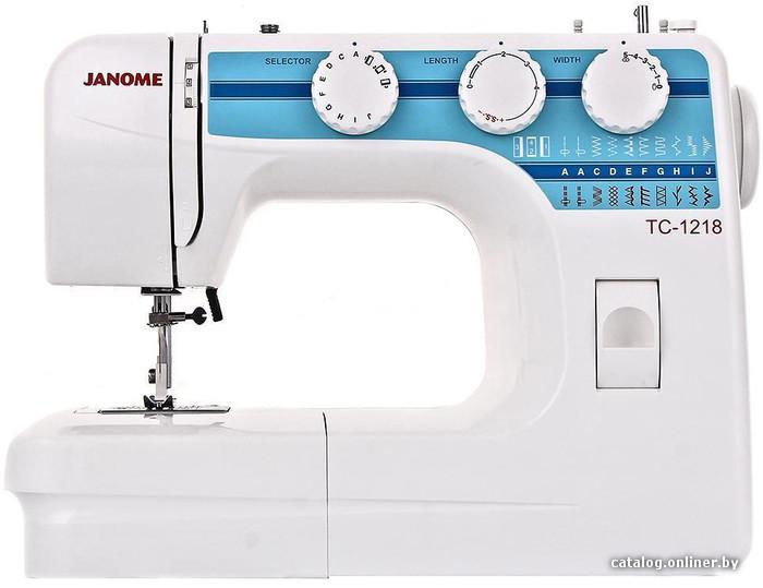 Janome TC 1218 электромеханическую швейную машину купить в Минске