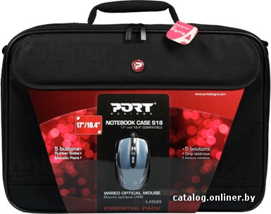 "Сумка для ноутбука PORT Designs Pack Essential 18.4 "" Black 501291 фото 1."