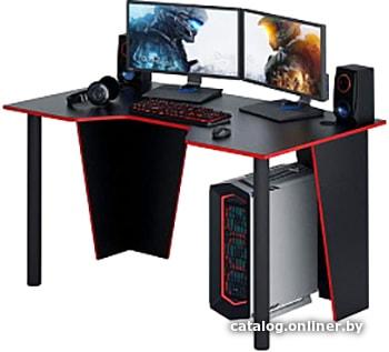 MFMaster Форсаж-2 (черный/красный) геймерский стол купить в Минске