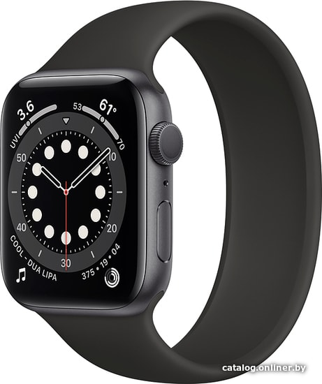 Apple Watch Series 6 44 мм (алюминий серый космос/черный) умные часы купить в Минске