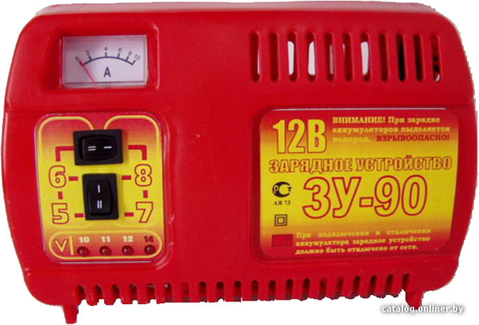 Простое зарядное устройство автомобильного аккумулятора зу-90 от.