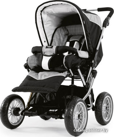 Прогулочная коляска Emmaljunga Cerox 2.0 Silver Check.