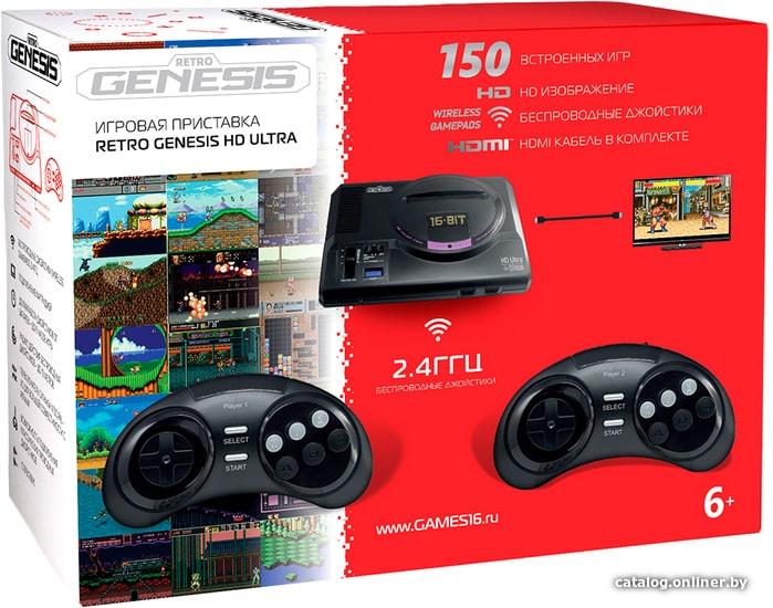 Retro Genesis HD Ultra (2 геймпада, 150 игр) игровую приставку купить в Минске