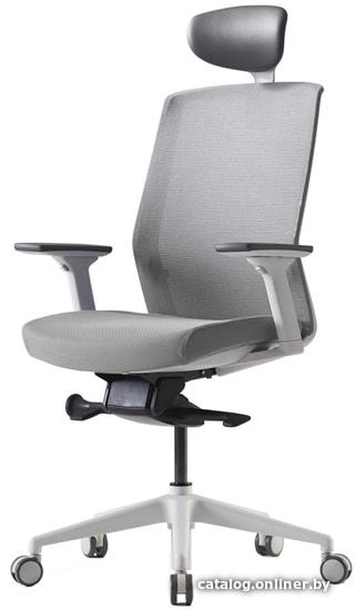 Bestuhl J1G120L (белая крестовина, серый) кресло купить в Минске