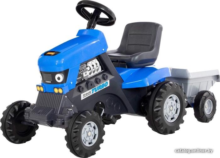 Полесье Каталка-трактор с педалями Turbo с полуприцепом 84637 педальную машинку купить в Минске
