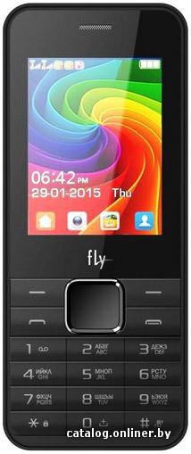 78d3cb2469b5 Fly FF246 Black мобильный телефон купить в Минске