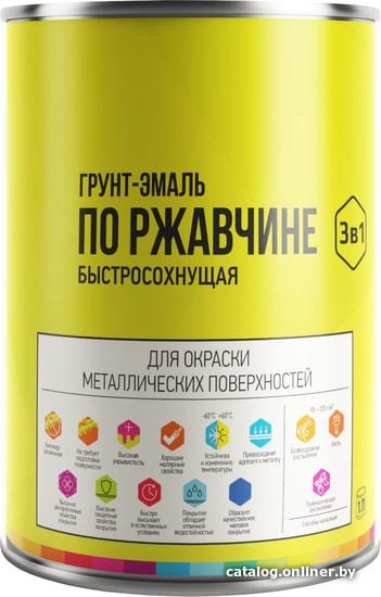 LIDA по ржавчине быстросохнущая 1 л (серый) грунт-эмаль купить в Минске