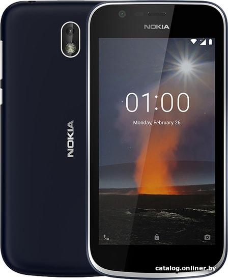 Nokia 1 Dual SIM (синий) смартфон купить в Минске