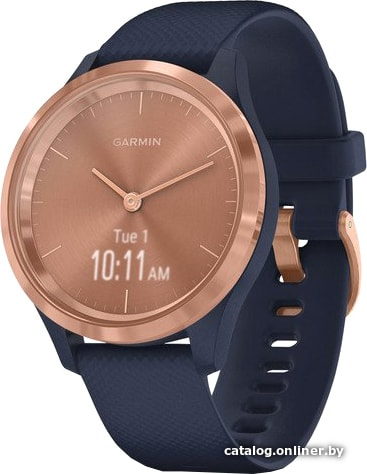 Garmin Vivomove 3S (розовое золото/темно-синий) гибридные умные часы купить в Минске