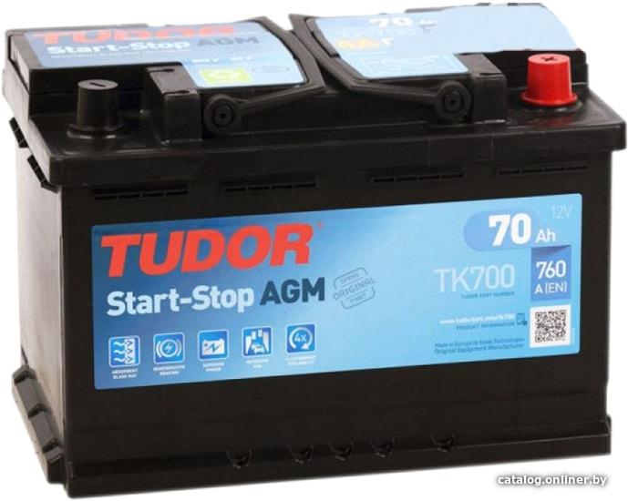 Tudor Start-Stop AGM TK700 (70 А·ч) автомобильный аккумулятор купить в Минске