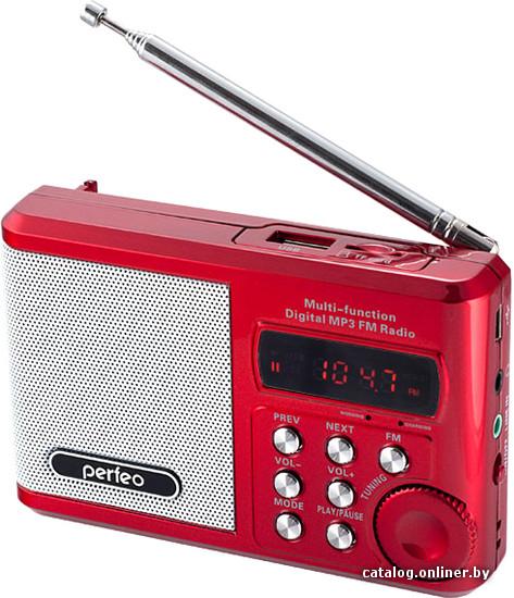 <b>Perfeo PF</b>-<b>SV922</b> (красный) <b>радиоприемник</b> купить в Минске
