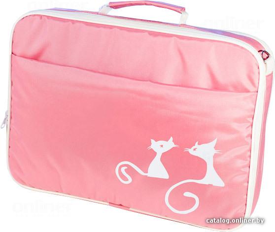 Сумка для ноутбука Two cats pink.